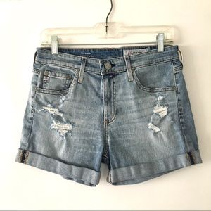 AG-ED Hailey High-Waisted Distressed Denim Short